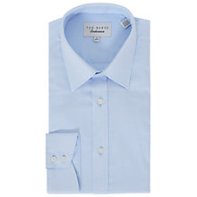 Buy Ted Baker Wiggy Oval Tailored Fit Shirt, Blue Online at johnlewis.com