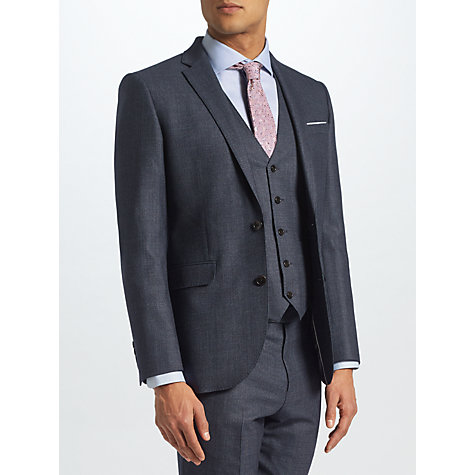 Buy John Lewis Semi Plain Tailored Suit Jacket, Petrol Online at johnlewis.com