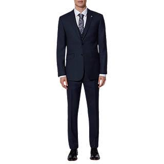 Ted Baker Ralahj Wool Birdseye Tailored Suit Jacket, Navy