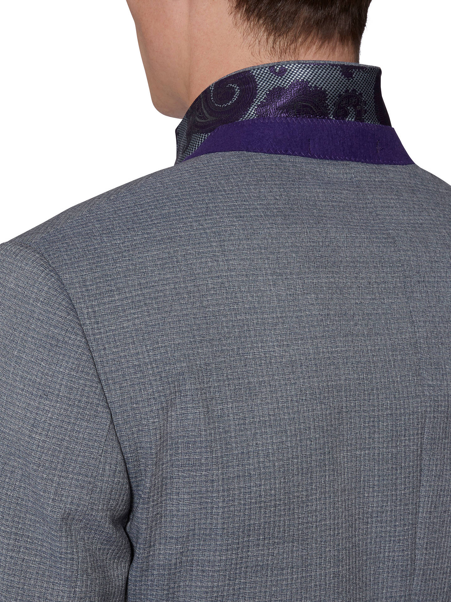 BuyTed Baker Hamiltj Textured Wool Tailored Suit Jacket, Blue/Grey, 38S Online at johnlewis.com