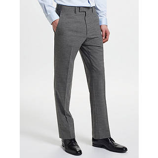 Kin by John Lewis End on End Slim Fit Suit Trousers, Mid Grey