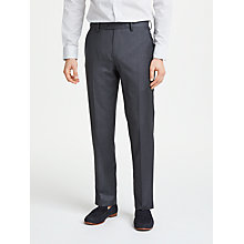 Buy John Lewis Made in Italy Sharkskin Super 120s Wool Tailored Trousers, Charcoal Online at johnlewis.com