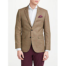 Buy John Lewis Woven in England Check Tailored Blazer, Olive/Rust Online at johnlewis.com