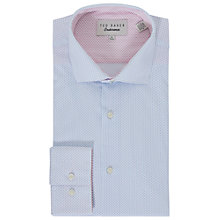 Buy Ted Baker Bungo Dot Tailored Fit Shirt, White/Blue Online at johnlewis.com