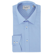 Buy Ted Baker Loona Diamond Tailored Fit Shirt, Blue Online at johnlewis.com