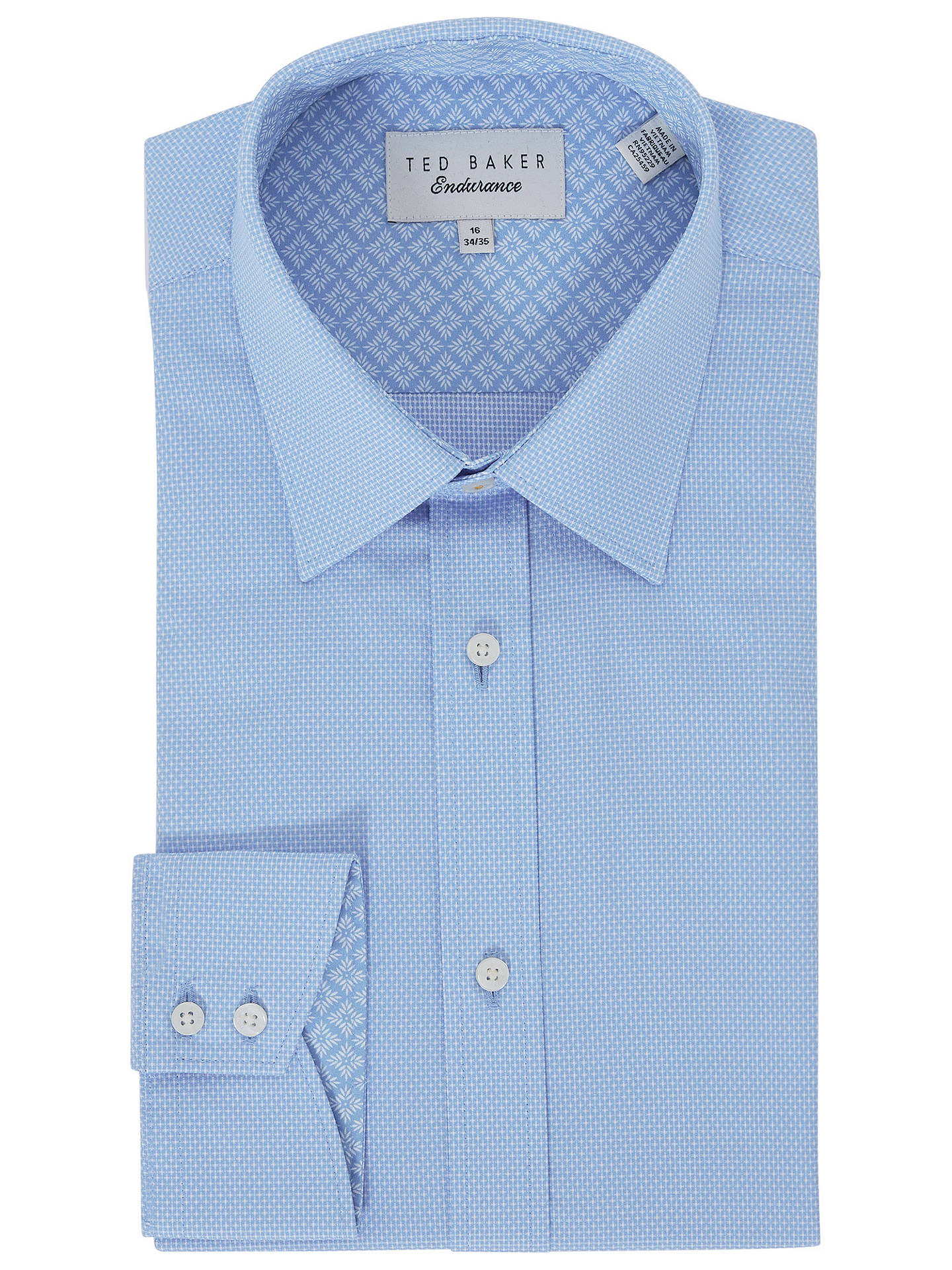 b33e21ece Buy Ted Baker Loona Diamond Tailored Fit Shirt