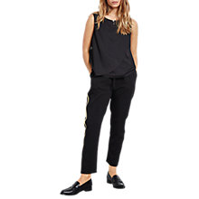 Buy hush Alexis Trousers, Black/Gold Online at johnlewis.com