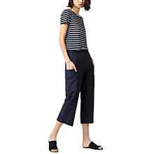 Buy Warehouse Stripe T-Shirt, Navy/White Online at johnlewis.com