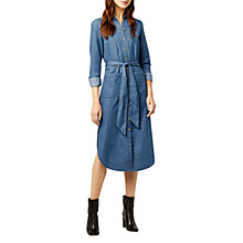 Buy Warehouse Denim Shirt Midi Dress, Mid Wash Online at johnlewis.com
