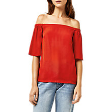 Buy Warehouse Woven Front Bardot Top Online at johnlewis.com
