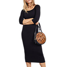 Buy hush Erica Knit Dress, Black Online at johnlewis.com