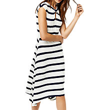 Buy Warehouse Striped Knot Dress, White/Navy Online at johnlewis.com