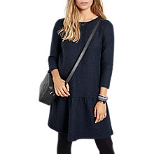 Buy hush Cicely Pure Wool Dropped Waist Dress, Midnight Online at johnlewis.com