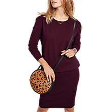 Buy hush Tina Dress, Burgundy Online at johnlewis.com