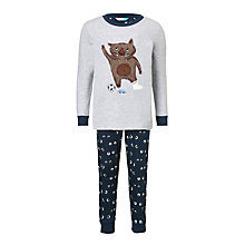 Buy John Lewis Moz The Monster Glow in the Dark Pyjamas, Blue Online at johnlewis.com