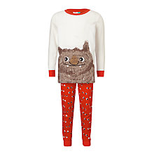 Buy John Lewis Moz The Monster Glow in the Dark Pyjamas, Red Online at johnlewis.com