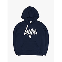 Buy Hype Boys' Large Logo Hoodie, Navy Online at johnlewis.com
