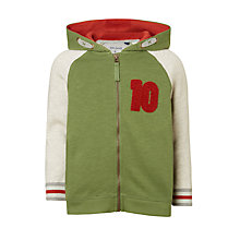 Buy John Lewis Boys' Raglan Sleeve Hoodie, Green Online at johnlewis.com