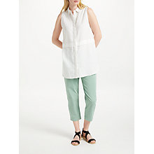 Buy John Lewis Long Linen Shirt, White Online at johnlewis.com