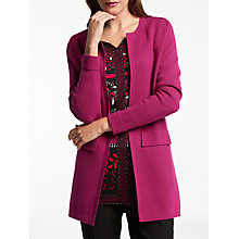 Buy Gerry Weber Longline Cardigan, Fuchsia Online at johnlewis.com