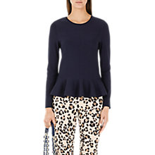 Buy Marc Cain Peplum Top, Navy Online at johnlewis.com