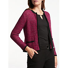 Buy Gerry Weber Boucle Style Cardigan, Red Fuchsia Online at johnlewis.com
