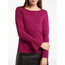 Buy Gerry Weber Bell Sleeve Sparkle Jumper, Fuchsia Online at johnlewis.com