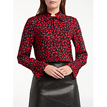 Buy Gerry Weber Long Sleeve Printed Shirt, Black/Red Online at johnlewis.com
