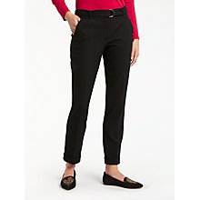 Buy Gerry Weber Straight Leg Belted Trousers, Black Online at johnlewis.com