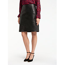 Buy Gerry Weber Faux Leather Skirt, Black Online at johnlewis.com
