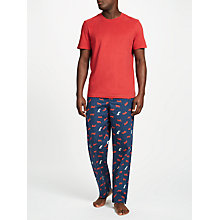 Buy John Lewis Tiger Print Lounge Pants, Navy Online at johnlewis.com