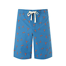 Buy John Lewis Macaque Print Lounge Shorts, Blue Online at johnlewis.com