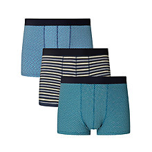 Buy John Lewis Multi Pattern Trunks, Pack of 3, Blue Online at johnlewis.com