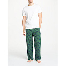 Buy John Lewis Elephant Print Pyjama Bottoms, Green Online at johnlewis.com
