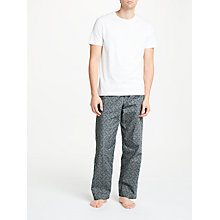 Buy John Lewis Plane Print Brushed Lounge Pants, Grey Online at johnlewis.com