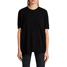 Buy AllSaints Reya Short Sleeve T-Shirt, Black Online at johnlewis.com