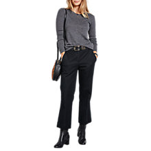 Buy hush Kick Flare Trousers, Black Online at johnlewis.com