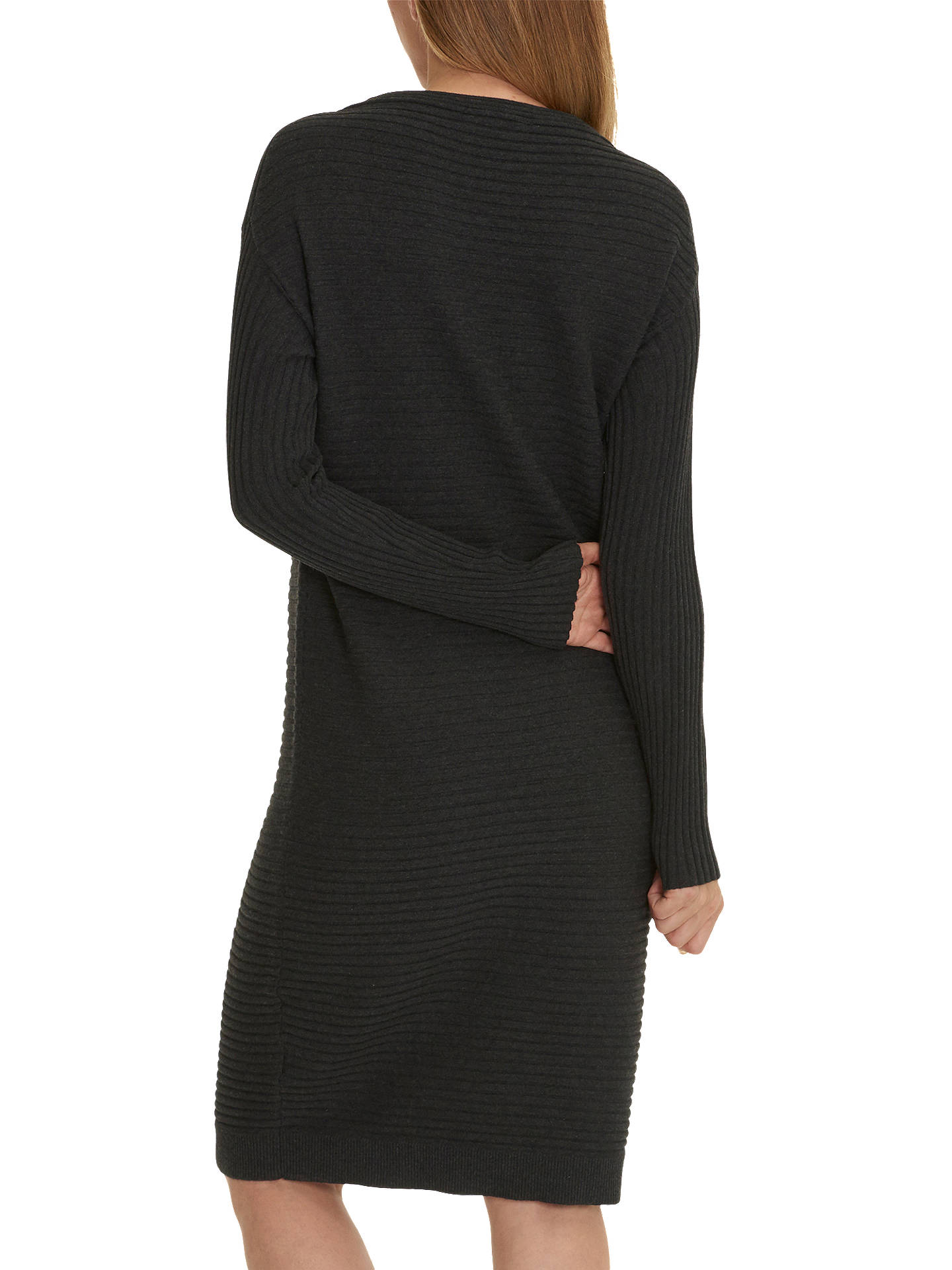 BuyBetty Barclay Ribbed Knit Dress, Dark Grey Melange, 8 Online at johnlewis.com