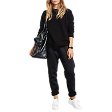 Buy hush Metallic Stripe Joggers, Black/Gold Online at johnlewis.com