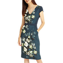 Buy Phase Eight Kadie Peony Dress, Deep Lagoon Online at johnlewis.com