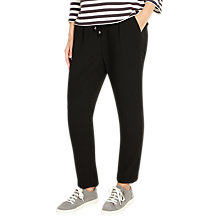 Buy Phase Eight Jayne Satin Stripe Trousers, Black Online at johnlewis.com