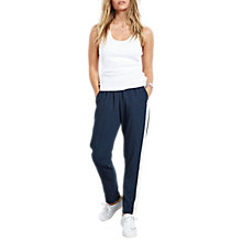 Buy hush Erin Panel Trousers, Midnight/White Online at johnlewis.com