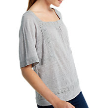 Buy White Stuff Heidi Linen Jersey T-Shirt, Grey Online at johnlewis.com