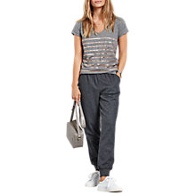 Buy hush Ashley Trousers, Charcoal Marl Online at johnlewis.com
