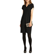 Buy Phase Eight Dani Double V-Neck Dress, Black Online at johnlewis.com