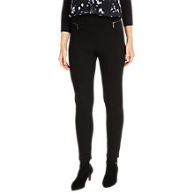 Buy Phase Eight Natalie Triple Zip Skinny Trousers, Black Online at johnlewis.com
