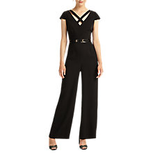 Buy Phase Eight Anya Belted Jumpsuit, Black Online at johnlewis.com