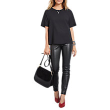 Buy hush Leather Leggings, Black Online at johnlewis.com