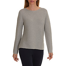 Buy Betty Barclay Ribbed Knit Dropped Hem Jumper, Silver Melange Online at johnlewis.com