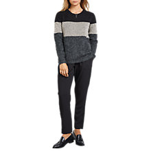 Buy hush Erin Stripe Trousers, Black Online at johnlewis.com